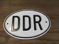 altes DDR KFZ Länderkennzeichen(2) Blechschild Oldtimer PKW LKW Bargas W50