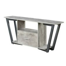 """Convenience Concepts Graystone 60"""" TV Stand, Gray/Black - 112085GYBF"""