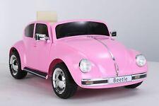 Kinder Auto VW Beetle 12V 2x35W Volkswagen Kinderfahrzeug Elektrofahrzeug Pink