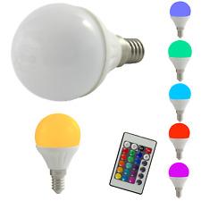 LED Tropfen 4W E14 RGB Glühbirnen Glühlampen Glühlampe Kugel warmweiß dimmbar