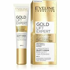 Eveline Gold Lift Expert Luxurious Eye Cream With 24 K Gold&Caffeine SPF 8 15 ml