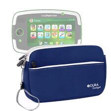 """Blue Neoprene Zip Case For Leapfrog LeapPad Platinum 7"""" Tablet w/ Front Pocket"""