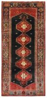 """Hand Knotted Tribal Navy Nomadic Runner Wool Area Oriental Rug 3'8"""" x 9'8"""""""