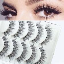 5 Pairs False Eyelashes Long Thick Natural Fake Eye Makeup Cl Lashes Mink A7H7