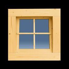 Holzfenster Sprossenfenster Gartenhausfenster 63 x 63 cm Kippfenster ++NEU++