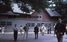 KODACHROME 35mm Slide Large Building Men Women Children Cameras Fashion 1970s!!!