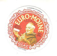Etiquette de Fromage carton Euro-Moine Charentes  poitou