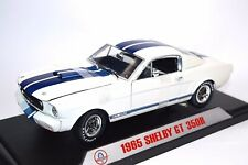 SHELBY GT-350R FORD MUSTANG 1965 WHITE 1:18 SHELBY COLLECTIBLES 168 SIGNATURE