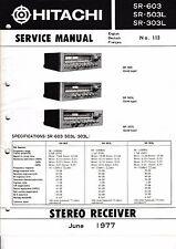 Manuel de reparation pour Hitachi SR-603,SR-503L,SR-303L