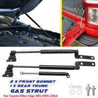 3X Front Bonnet + Tailgate Gas Support Struts For Toyota Hilux Vigo SR5 05-09 AU