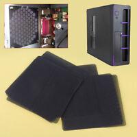 10x PVC Black Computer Case Fan Dustproof Dust Filter Fits Standard 120mm Fans