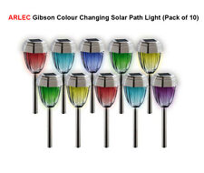 ARLEC Long Life Colour Changing Garden Outroor Solar Path Light - Pack of 10