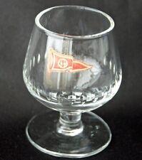 Vintage YACHT CLUB TC Red White Burgee Glass