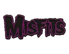 OFFICIAL LICENSED - MISFITS - PURPLE LOGO SHAPED IRON ON / SEW ON PATCH PUNK