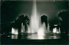 Ansichtskarte Mannheim Wasserspiele bei Nacht  (Nr.9145)
