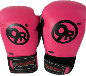9 Round Womens Boxing Gloves, Pink 30 Min Kick Boxing Fitness