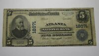 $5 1902 Atlanta New York NY National Currency Bank Note Bill! Ch. #12071 FINE