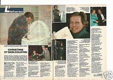 Coupure de presse Clipping 1986 Christine Ockrent  (2 pages)
