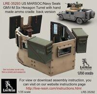 Live Resin 1:35 MARSOC Navy Seal GMV-M 6 Grain Turret Ammo Cradle Back #LRE35293