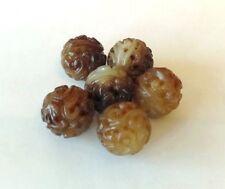 1 Hetian Chinese Jade Carved Round Bead 25 mm Rare