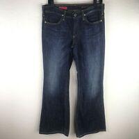AG ADRIANO GOLDSCHMIED The New Legend Dark Wash Flare Leg Denim Jeans 29 R