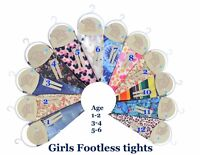Girls summer footless tights Age 1 to 6 years kids footless  various colours