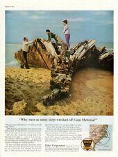 Vintage advertising print Gas Oil Ethyl Corp Cape Hatteras Ship Graveyard wreck