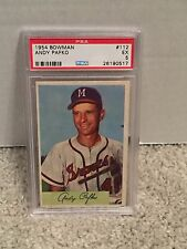 1954 Bowman #112 -ANDY PAFKO - PSA 5 EX - Milwaukee BRAVES - RH