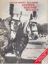 Little Circus Wagon Magazine April May 1966 Circus Model Builders 24 pages / b6