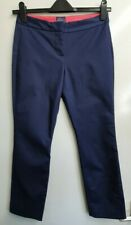 Joules Audrey Plain French Navy Cropped Trousers Size 8