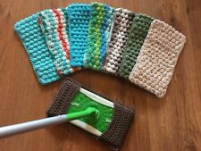 Large Lot of 8 Reusable Pads fit Swiffer Sweeper-Handmade (Random Colors)