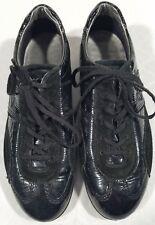 Ecco Men's Black Leather Comfort Lace Up Fashion Sneakers Size EU 39 - US 5-5.5