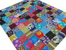 Dessus de lit coton Patchwork Couvre-lit Grand Jeté de lit Multicolore Inde C0