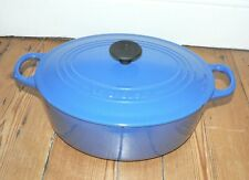 Le Creuset Marseille Blue Cast Iron Oval Casserole  -  25 cm