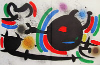 MIRO - LITHOGRAPH X VOL. I - ORIGINAL LITHOGRAPH - 1972 - FREE SHIP IN THE US !