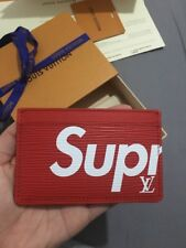 Louis Vuitton Supreme Card Holder BNIB Red