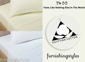 400TC LUXURY HOTEL QUALITY EGYPTIAN COTTON SATIN FITTED & FLAT SHEET PILLOW CASE