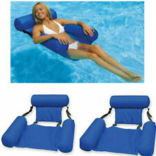 2Pc Inflatable Floating Bed Water Hammock Lounge Chair Beach Swimming Pool Toy