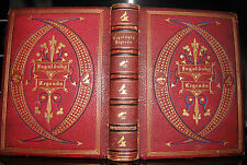 Ghosts WITCHES Stories,  Ingoldsby Legends DATED 1870 MOROCCAN RED LEATHER