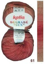 (9,00€/100g) DEGRADÉ SUN KATIA 100% Baumwolle FARBVERLAUF BATIK Baby-Wolle Fb.61