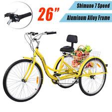 Ridgeyard Aluminum Frame 26'' 3 Wheel 7 Speed Adult Tricycle Trike Cruise