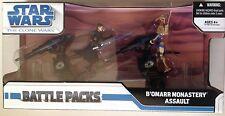 "STAR WARS Battle Packs of B'OMARR MONASTERY ASSAULT Action Figures 3.75"""