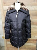 Ellen Tracy Faux Fur Black Jacket 100%Polyester Women SizeL Check pictures NWT