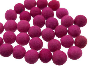50 Perline Palle Di Feltro Naturale Ø=2.1 CM Nepal Rosa BO14