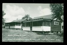 1940's RPPC Cabins at Cedarwild Lodge Moose Lake Deer River MN A9602