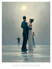 DANCE ME TO THE END OF LOVE ART PRINT BY JACK VETTRIANO beach moonlight poster