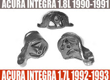 1990-1991 ACURA INTEGRA 1.8L MOTOR MOUNT KIT 3PCS.