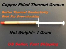 Thermal Compound Paste Grease for CPU GPU 1g Syringe Copper Filled gold color