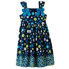 NWT Jessica Ann summer dress navy Easter summer blue Holiday polka dot bow 8 $38