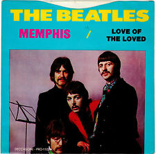 BEATLES-DECCAGONE 1102-MEMPHIS/LOVED OF THE LOVED-BLUE WAX-PICTURE SLEEVE